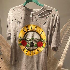 oversized guns and roses t shirt.
